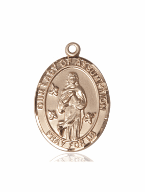 Bliss Our Lady of the Assumption 14kt Gold Pendant