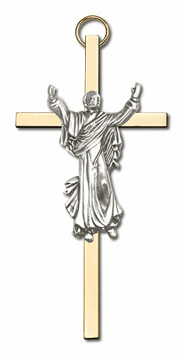 Bliss Polishes Brass Wall Crosses and Crucifixes