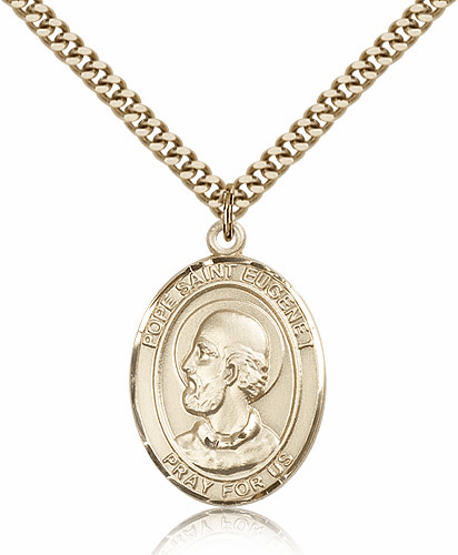 Bliss Pope Saint Eugene Patron Gold-Filled Medal Necklace