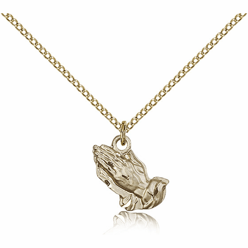 Bliss Praying Hands 14kt Gold-filled Necklace with Chain