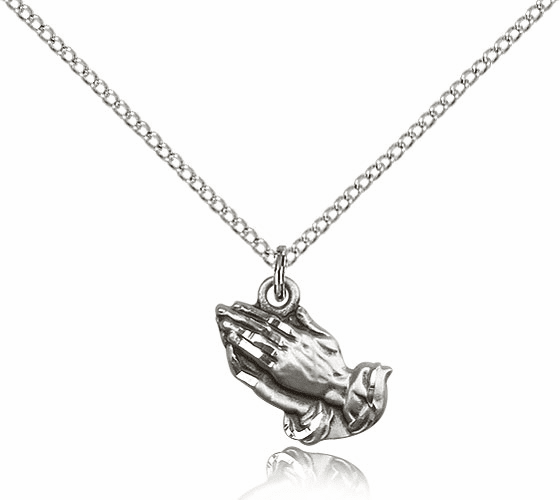 Bliss Praying Hands Silver-filled Necklace with Chain