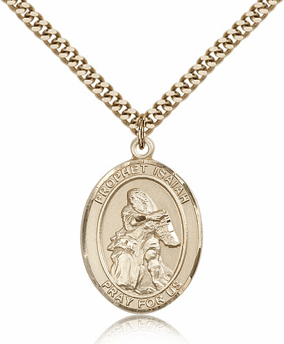 Bliss Prophet Isaiah Patron Saint 14kt Gold-Filled Medal Necklace
