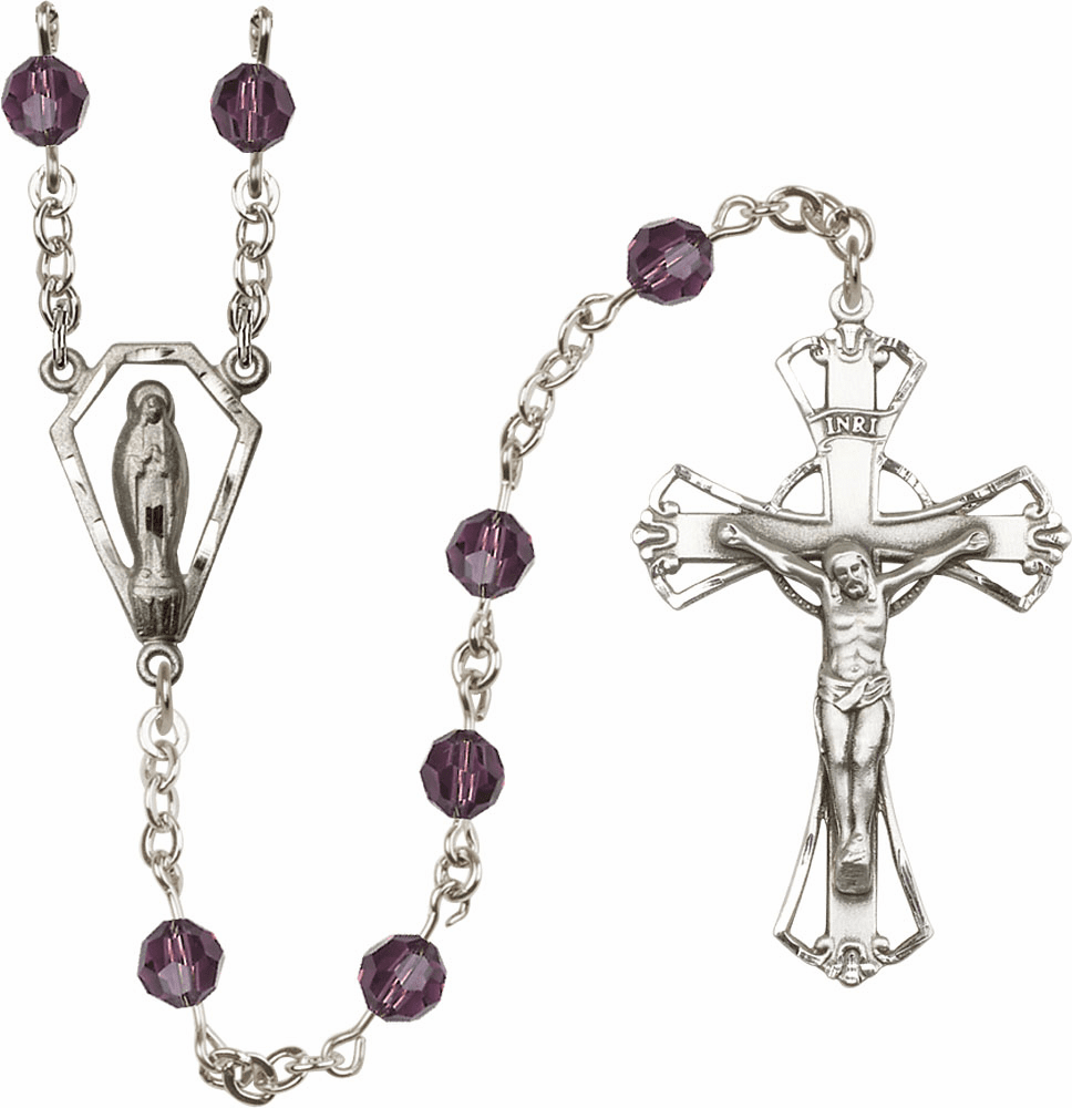 Bliss Praying Madonna Swarovski Crystal Rosaries