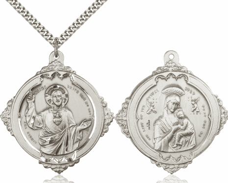 Bliss Sacred Heart & Our Lady of Perpetual Help Necklace