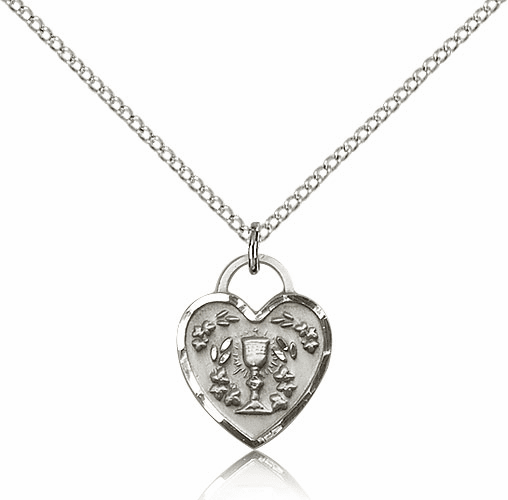 Bliss Silver-filled Communion Heart Pendant Necklace
