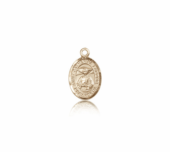 Bliss Small 14kt Gold St. Catherine Laboure Patron Saint Medal