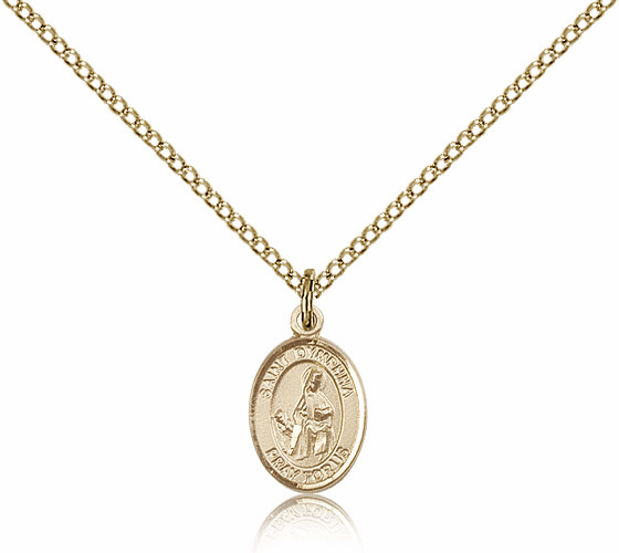 Bliss Small Gold Filled St. Dymphna Pendants