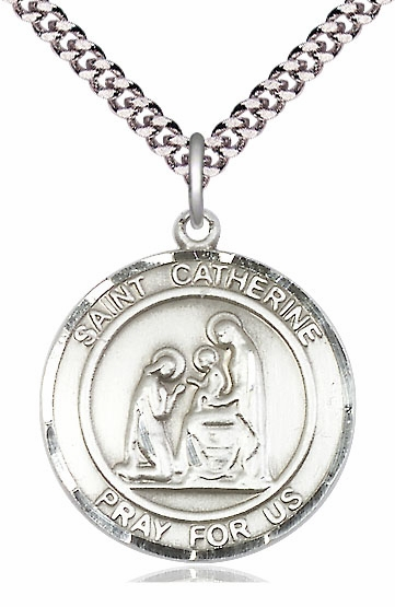 Bliss St Catherine of Siena Medium Patron Saint Silver-filled Medal - More Sizes
