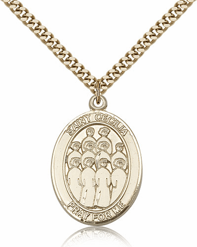 Bliss St Cecilia Choir Patron Saint 14kt Gold-Filled Pendant Necklace