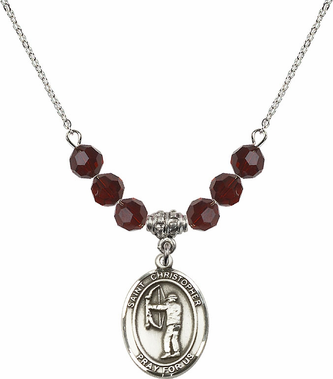 "Bliss St Christopher Archery Crystal Beaded Necklaces ""More Colors"""