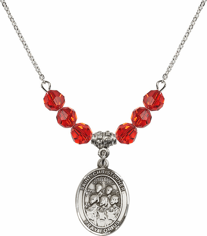 Bliss St Christopher Choir Crystal Beaded Necklaces - More Colors