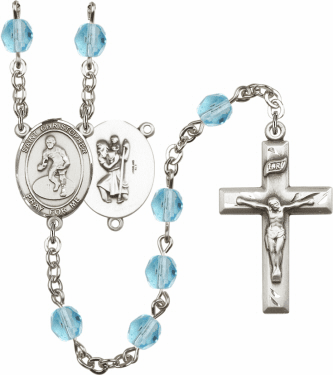 Bliss St Christopher Golf Athlete Birthstone Rosary  - More Colors
