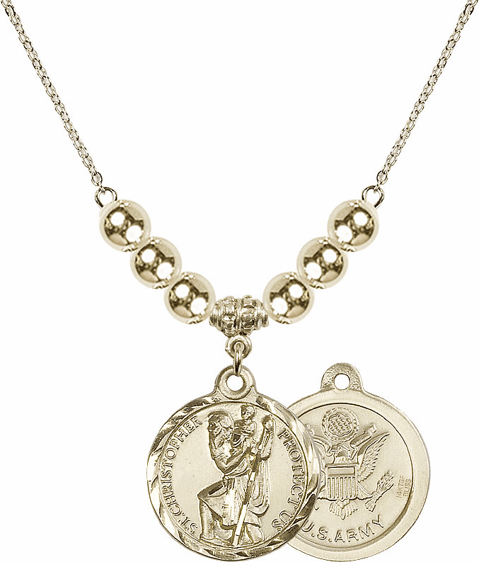 Bliss St Christopher Military Beaded Pendant Necklaces