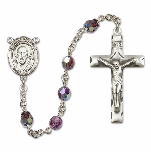 Bliss St Francis de Sales Sterling, Gold-filled or 14kt Gold Amethyst Crystal Rosary