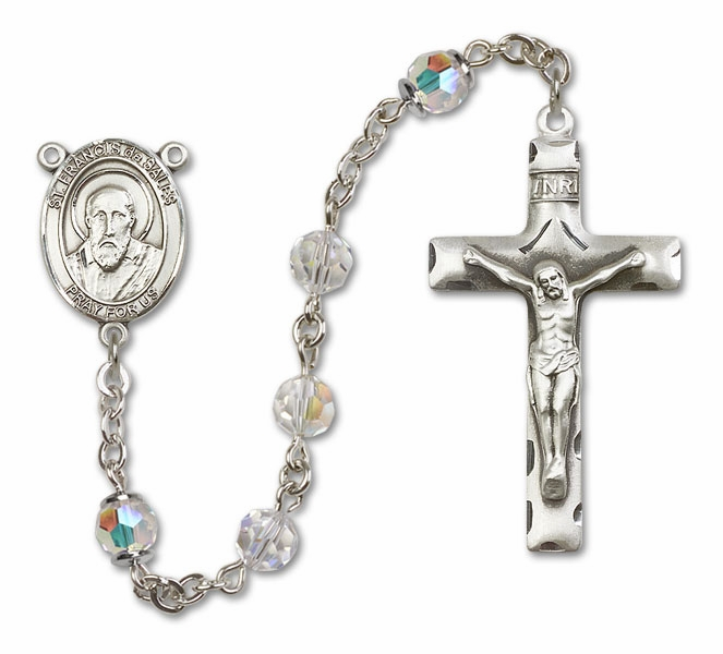 Bliss St Francis de Sales Sterling, Gold-filled or 14kt Gold Crystal Rosary