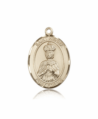 Bliss Manufacturing St Henry II 14kt Gold Patron Saint Medal