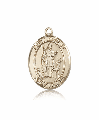 Bliss St Hubert of Liege 14kt Gold Patron Saint Medal