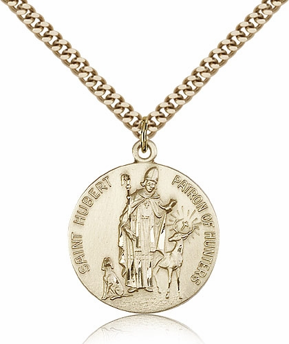 Bliss St Hubert of Liege Patron Saint of Hunters 14kt Gold-filled Necklace