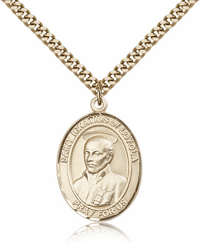 Bliss St Ignatius of Loyola 14kt Gold-Filled Patron Saint Medal Necklace