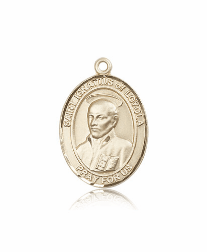 Bliss St Ignatius of Loyola 14kt Gold Patron Saint Medal