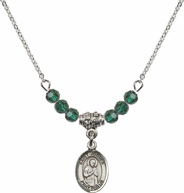 Bliss St Isaac Jogues Swarovski Beaded Birthstone Necklace - More Colors