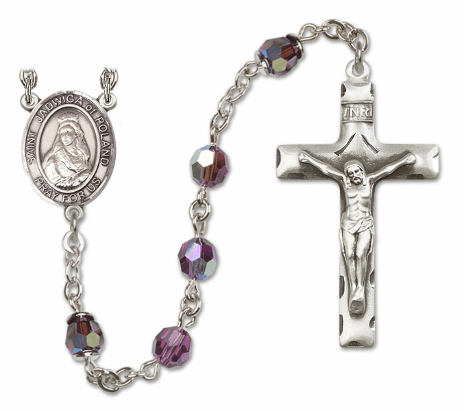 "Bliss St Jadwiga of Poland Sterling, Gold-filled or 14kt Gold Rosary ""More Colors"""
