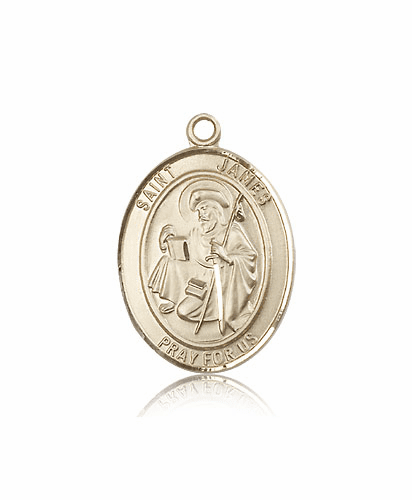 Bliss St James the Great Patron Saint 14kt Gold Medal