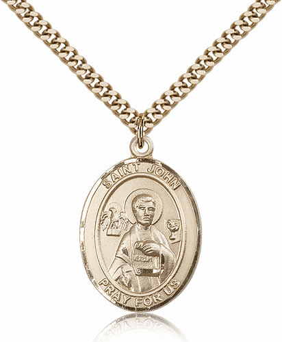 Bliss St John the Apostle Evangelist 14kt Gold-Filled Saint Medal Necklace