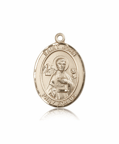 Bliss St John the Apostle Evangelist  14kt Gold Medal