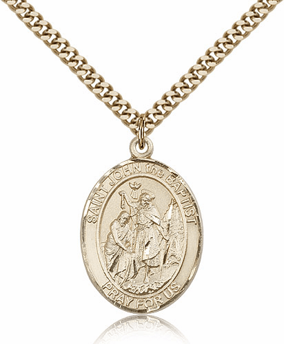 Bliss St John the Baptist 14kt Gold-Filled Saint Medal Necklace