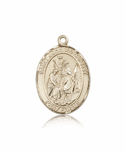 Bliss St John the Baptist Patron Saint 14kt Gold Medal