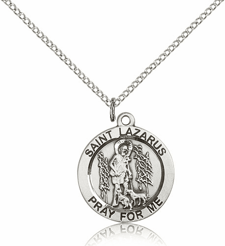 Bliss St. Lazarus Sterling Silver Pendant with Chain