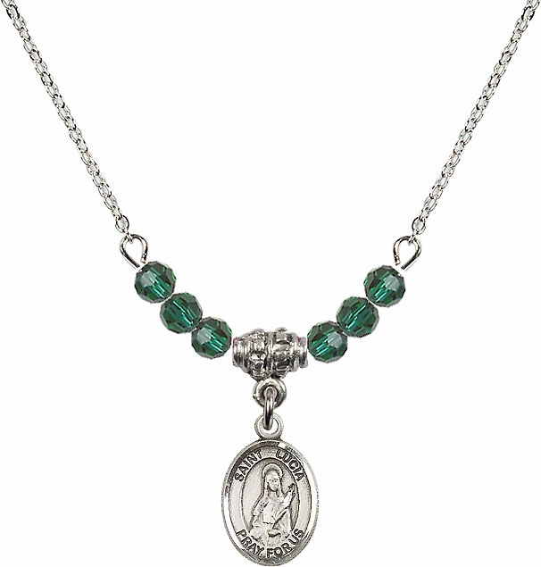 Bliss St Lucia of Syracuse Swarovski Beaded Birthstone Necklace - More Colors