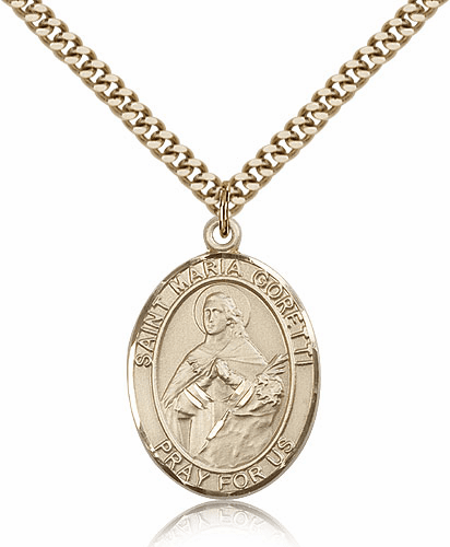 Bliss St Maria Goretti 14kt Gold-Filled Patron Saint Necklace