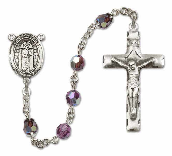 """Bliss St Matthias the Apostle Sterling, Gold-filled or 14kt Gold Rosary """"More Colors"""""""