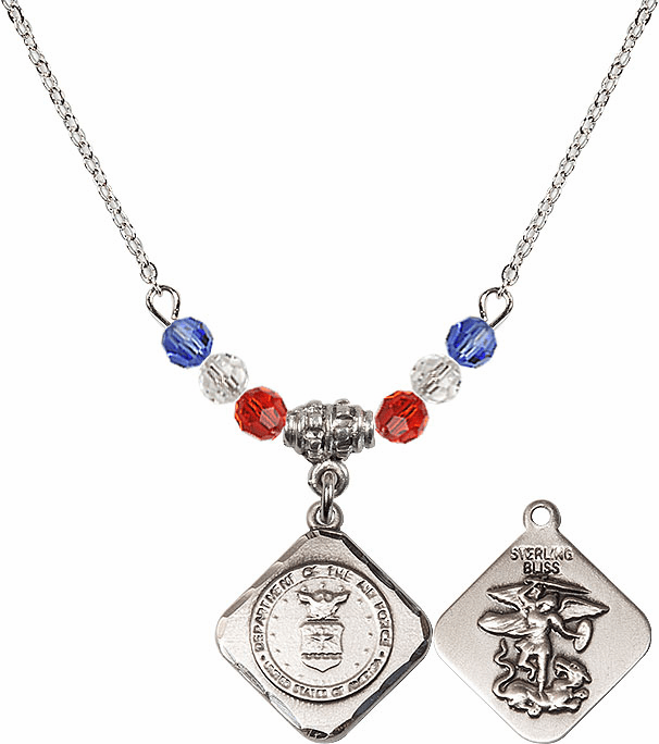 Bliss St Michael Military Diamond Shaped Beaded Necklaces
