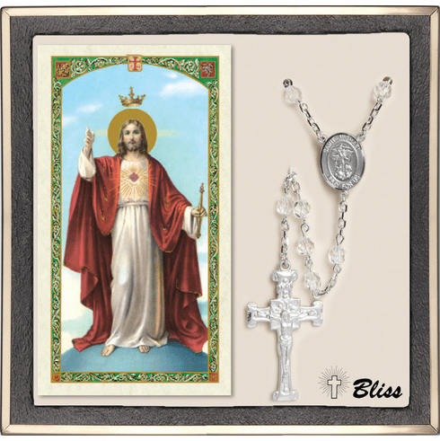 Bliss St Michael Patron Saint Military National Guard Crystal Rosary