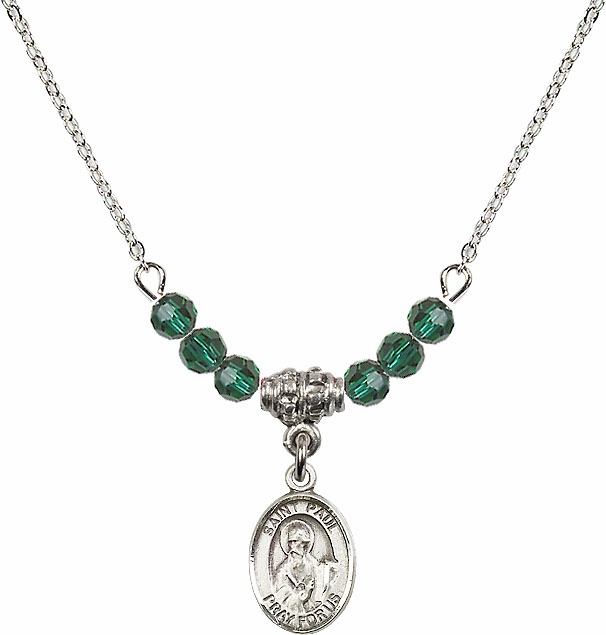 Bliss St Paul the Apostle Swarovski Beaded Birthstone Necklace - More Colors