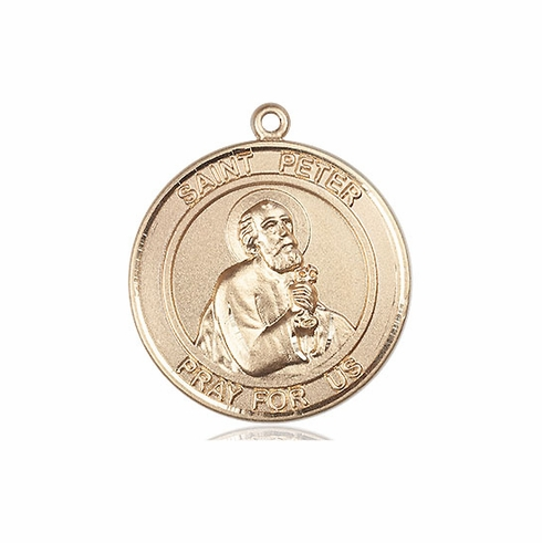 Bliss St Peter the Apostle Patron Saint of Fishermen 14kt Gold Medals