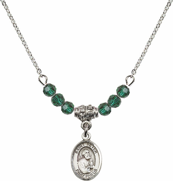 Bliss St Peter the Apostle Swarovski Beaded Birthstone Necklace - More Colors
