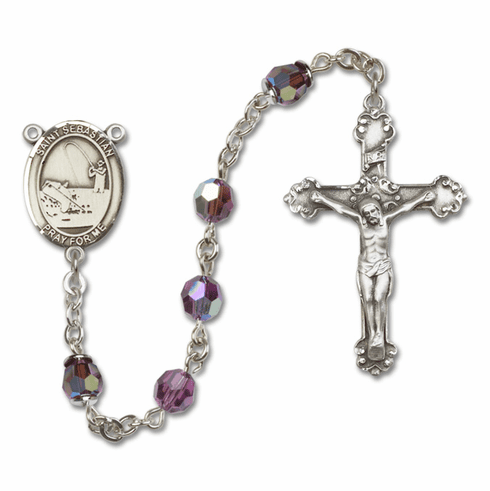 "Bliss St Sebastian Fishing Crystal Crystal Sterling, Gold-filled or 14kt Gold Rosaries ""More Options"""