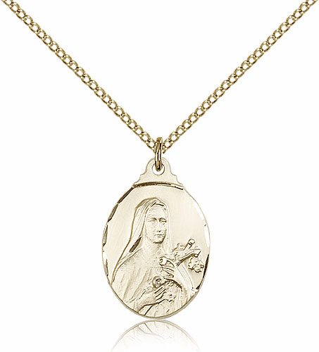 Bliss St Therese Lisieux 14kt Gold-Filled Pendant Necklace