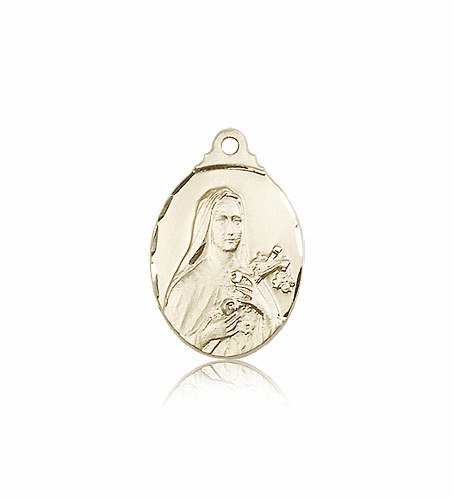 Bliss St Therese Lisieux 14kt Gold Pendant Necklace
