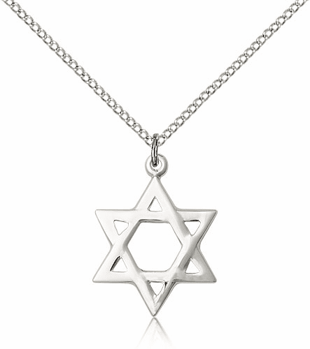 Bliss Star of David Sterling Silver Pendant Necklace