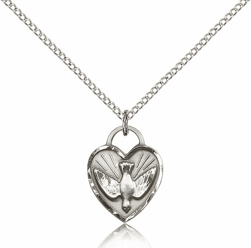 Bliss Sterling Silver Confirmation Heart Pendant Necklace