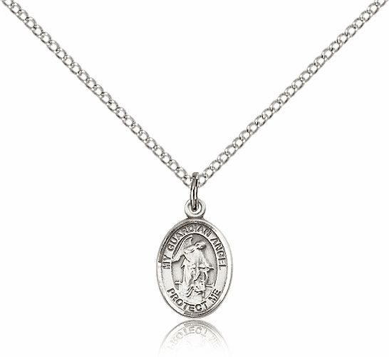 Bliss Sterling Silver Guardian Angel Pendant Necklace by Bliss Mfg.