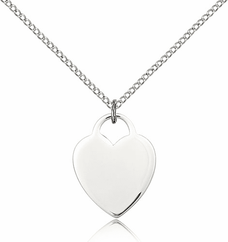 Bliss Sterling Silver Heart Pendant Necklace