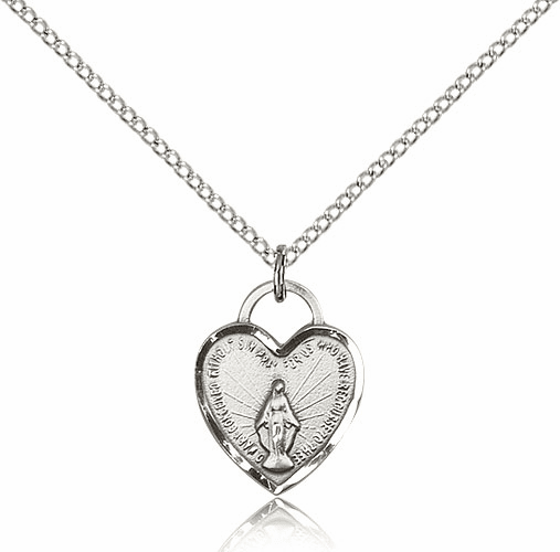 Bliss Sterling Silver Miraculous Heart Pendant Necklace