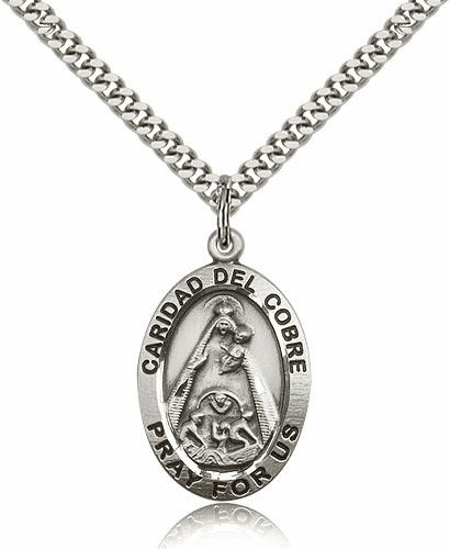 Bliss Sterling Silver Our Lady of Caridad Del Cobre Pendant