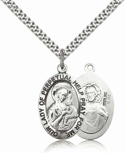 Bliss Sterling Silver Our Lady of Perpetual Help Pendant